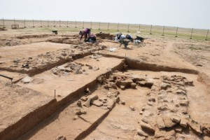 Výskum postupne odkrýval spod piesku rozsiahly nestoriánsky stavebný komplex s množstvom nálezov zo 7. – 8. storočia.